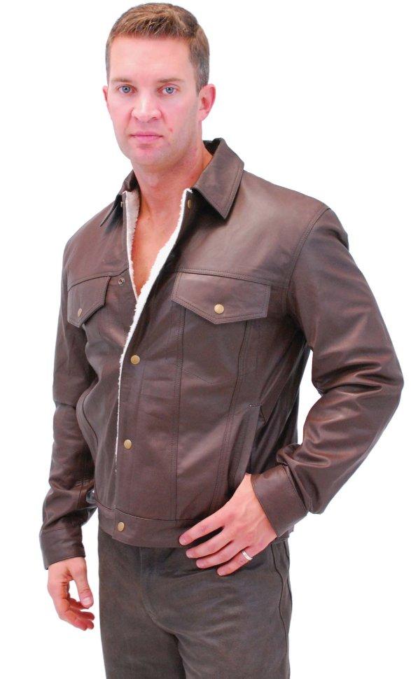 8f0ce4b6eda Кожаная куртка Denim Style с подкладкой из Шерпы - M1412HN 0649.jpg