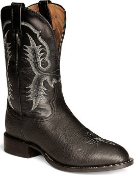Ковбойские сапоги Tony Lama Black Bullhide Stockman форма мыса Round Toe