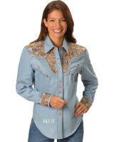 Женские ковбойские рубашки SCULLY FLORAL EMBROIDERED RETRO WESTERN