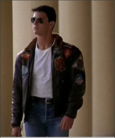 e4437d23538c Точная копия лётной кожаной куртки Top Gun G-1, как в фильме у Тома ...