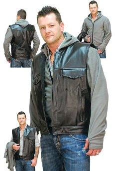 кожаные жилеты мужские фото