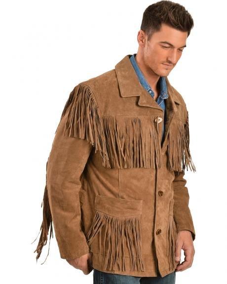 Мужская замшевая куртка в стиле вестерн Scully Suede Fringe