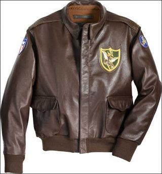 Кожаная лётная куртка ВВС США Flying Tigers A-2