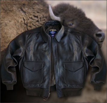Лётная куртка A2 из кожи американского бизона