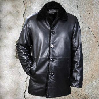 Кожаная зимняя куртка Boss