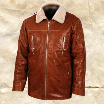 Кожаная куртка на меху Fantasy Zima