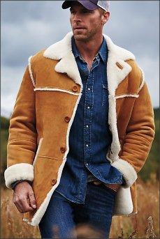 Люксовая зимняя мужская меховая ковбойская куртка El Dorado