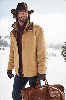 Элитная меховая кожаная куртка Jack Frost из итальянской телячьей кожи