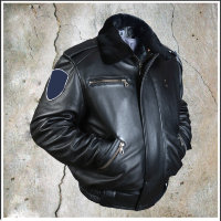 Кожаная ковбойская куртка