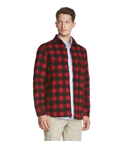 6dfe7abef9e Мужская фланелевая рубашка из меха американского бизона