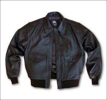Кожаная лётная куртка ВВС США USW Modern A-2
