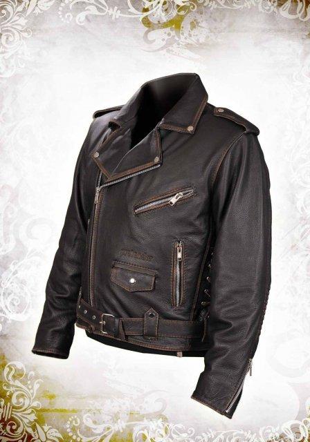 Косая кожаная куртка